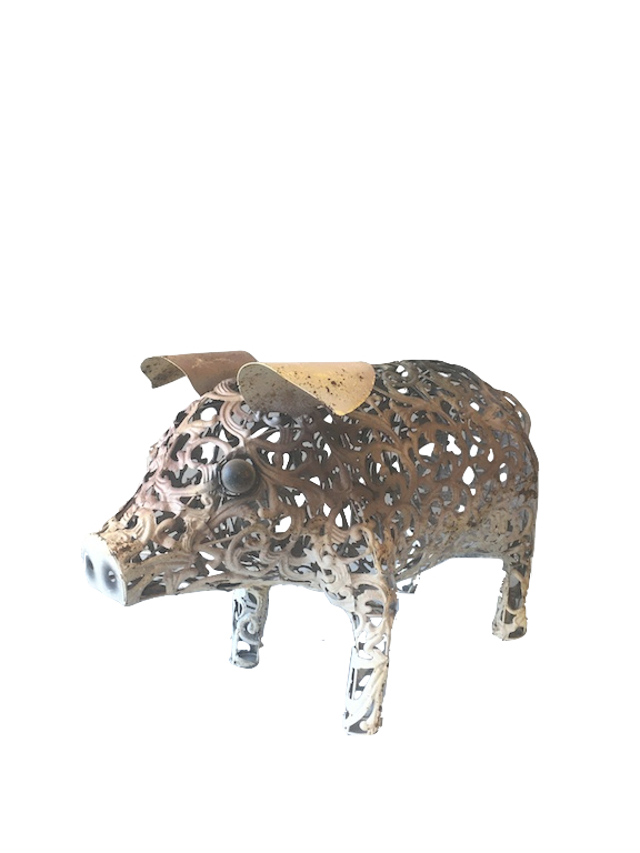 Iron decorative pig