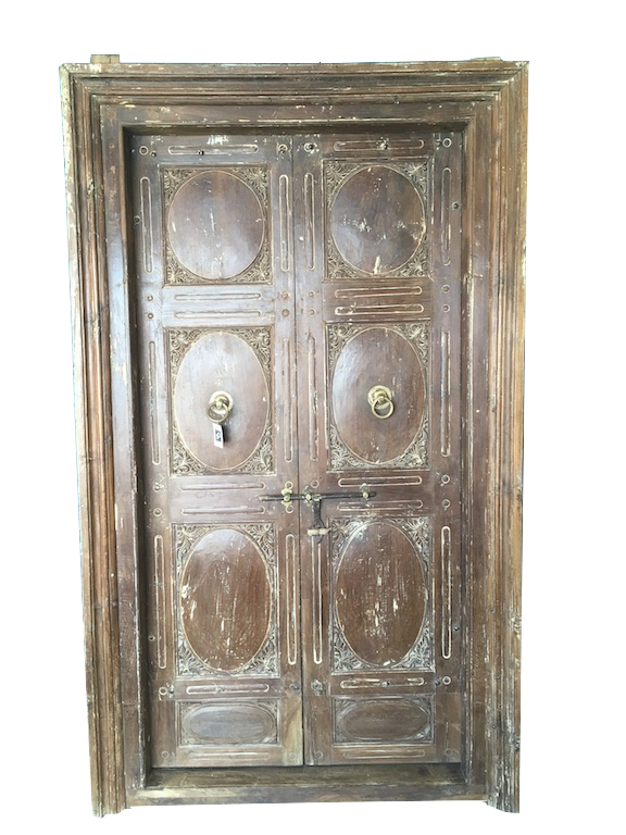 old indian teak door