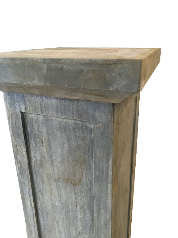stone pillar antique finish